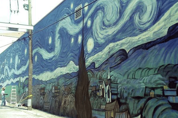 Findlay Mural: Starry Night