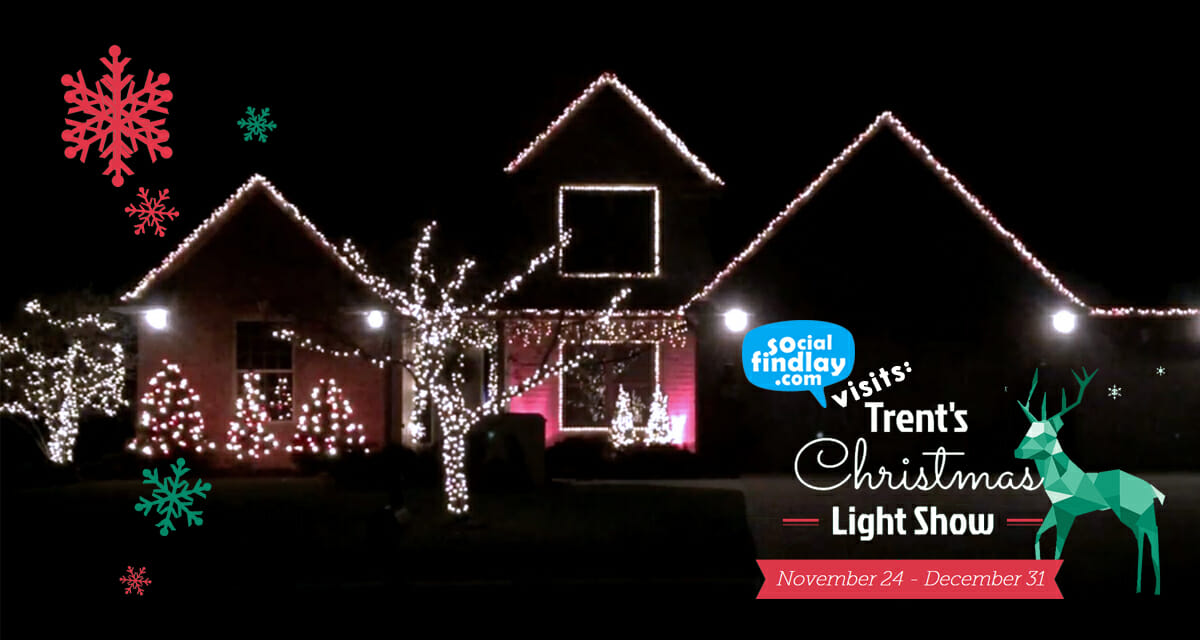 social findlay caught up with trent schroeder the mastermind behind trents christmas light show in ne findlay check out his website for links to videos